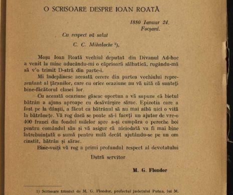 Moș Ioan Roată îi trimite cadou o căprioară ministrului Kogălniceanu