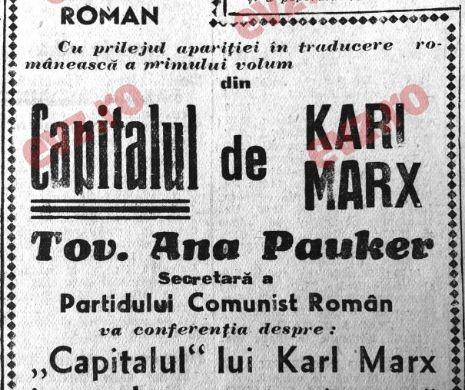 Când Tov. Ana Pauker conferenția la Ateneul Român!