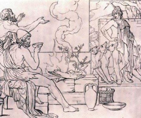 Cea mai veche transcriere a întâlnirii lui Odiseu cu porcarul său credincios