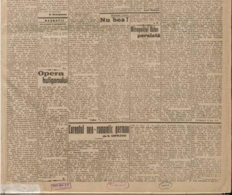 Problema alcoolismului și părerea ziaristului la 1923