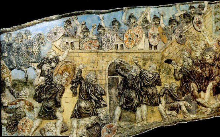 Dacii de pe Columna lui Traian, văzuți în culori! Vezi reconstrucția 3D a imaginilor de acum aproape două milenii