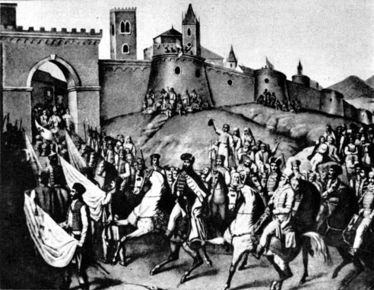 Domn al tuturor românilor din 27 mai. Intrarea lui Mihai Viteazul în Alba-Iulia povestită de Bălcescu