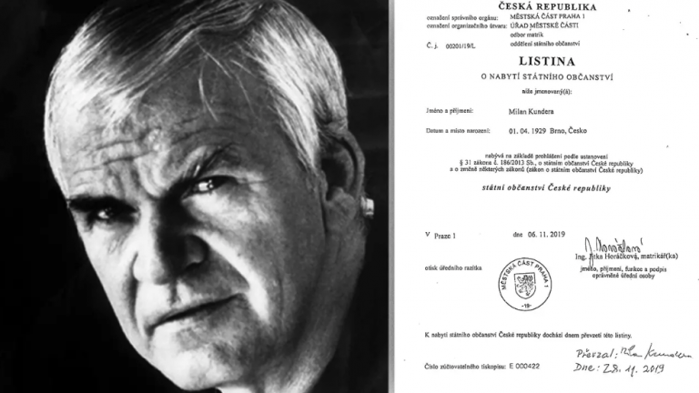 După 40 de ani. Milan Kundera şi-a recăpătat cetăţenia cehă, retrasă de comuniști