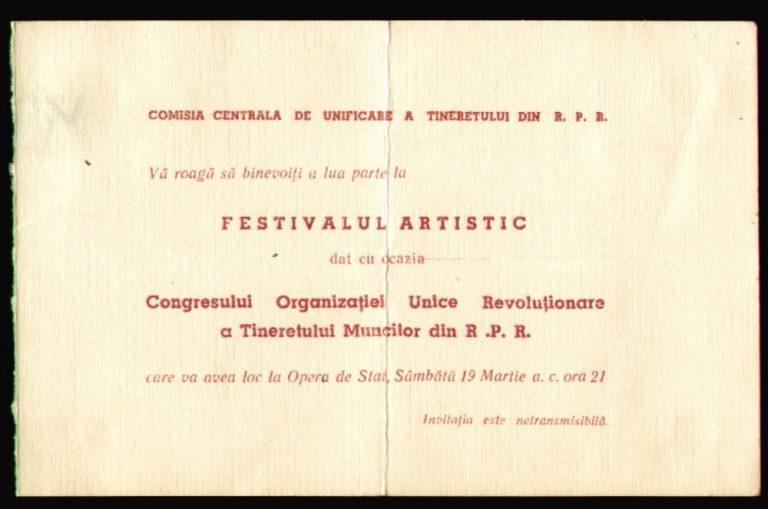 În cinstea Congresului de Unificare, tov. Florea Gheorghe de la Grivița Roșie  a izbutit să fabrice 140 cârlige în cinci ore