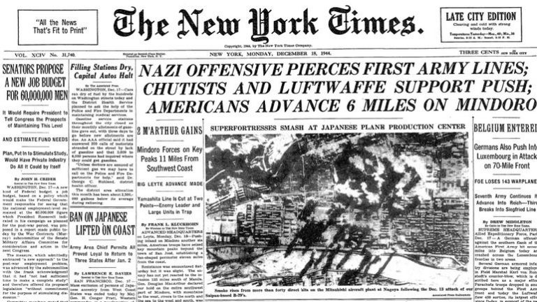 Ardeni 1944 : Ultima ofensivă germană a războiului, anunţată în presă după două zile