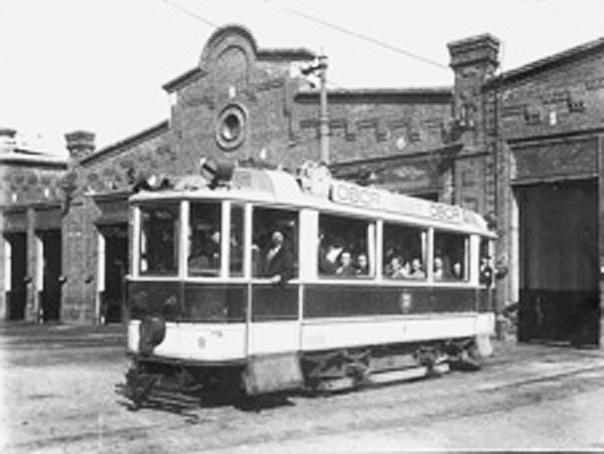 Primul tramvai electric din Bucureşti, între Obor şi Cotroceni