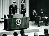 Primul șef de stat american care a ținut o conferință de presă televizată în direct (VIDEO)