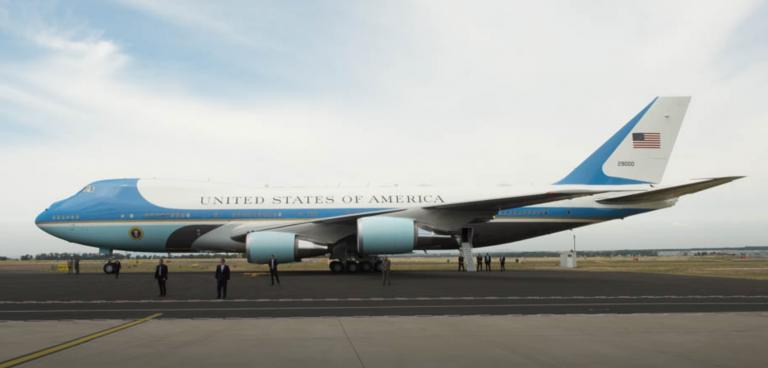 Primul zbor cu avionul al unui președinte american, în interes de serviciu