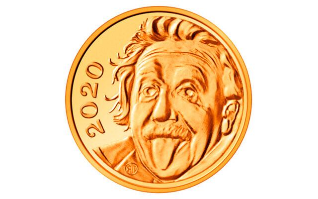 Elveția a pus chipul lui Einstein pe cea mai mică monedă din lume