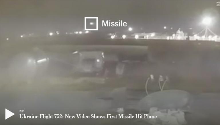New York Times publică noi imagini: avionul ucrainean de linie a fost lovit de două rachete iraniene
