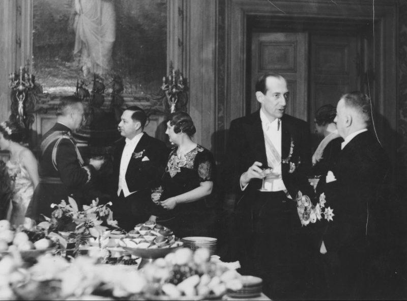 Varșovia 1936, în dreapta ministrul de externe român Victor Antonescu și ministrul de externe polonez Jozef Beck
