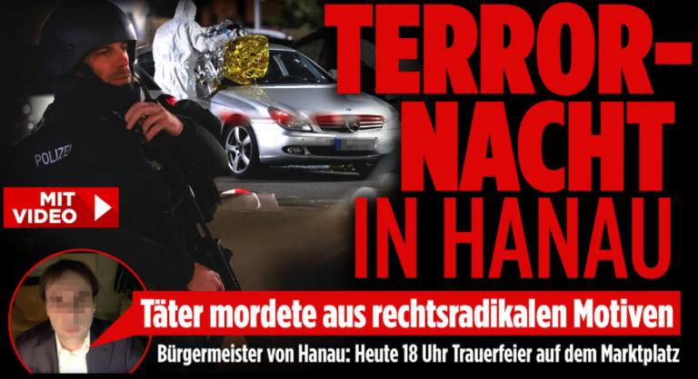 11 morţi la Hanau, în Germania. Cotidianul Bild: Suspectul este un extremist de dreapta