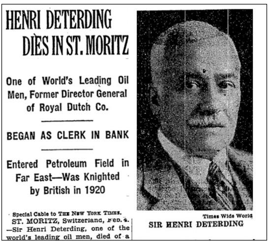Micul funcționar care a ajuns Pair al al Marii Britanii și cel mai puternic om din Olanda. Secretele primelor mari afaceri cu petrol (II)