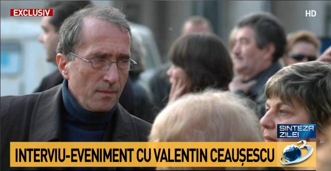 Sinteza zilei: Interviu-eveniment. Dezvăluirile lui Valentin Ceaușescu