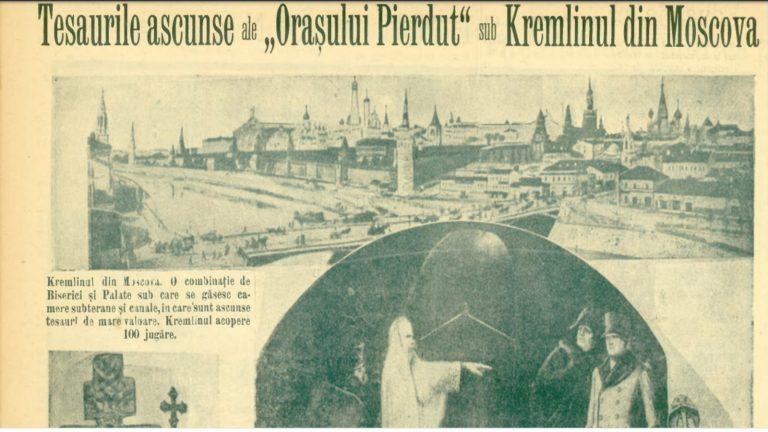 Tezaurul din orașul ascuns sub Kremlin. Napoleon speriat de călugărul mort