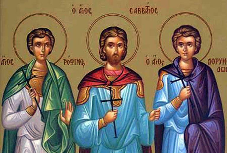 Cei trei sfinți care au refuzat să slăvească zeii păgâni