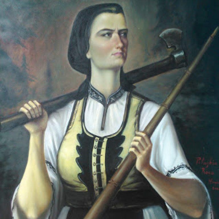 Pelaghia Roșu și armata ei de femei din Mărișel înving trupele maghiare care luptau contra lui Avram Iancu
