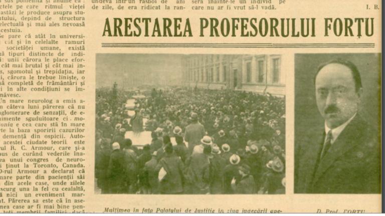 Gandhi al României – Prof. Grigore Forțu ajunge la închisoarea Văcărești