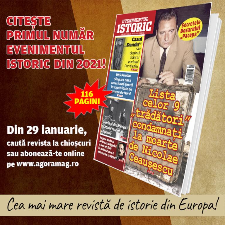 Primul număr al revistei Evenimentul Istoric din 2021, de vineri pe piață!