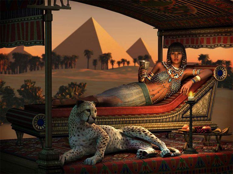 Fascinanta regină care a devenit rege cu barbă și obeliscurile sale ce luminau tot regatul