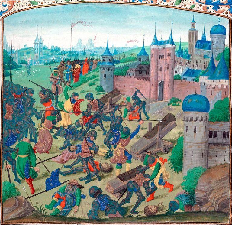 Regele Ungariei dă de belea în 1397, când se întorcea de la Nicopole: Mulțimea românilor stătea la pândă, aruncând cu cruzime suliți vătămătoare și săgeți otrăvite