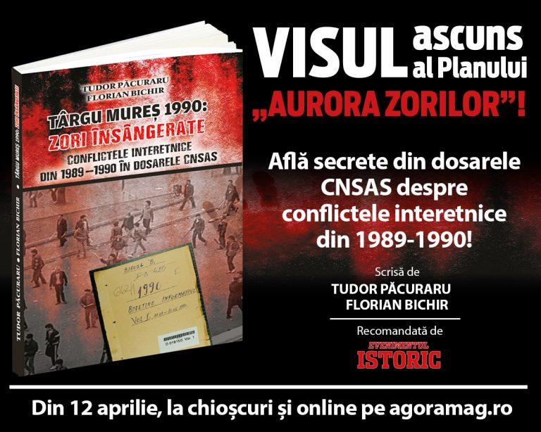 """Volumul """"Zori Însângerate"""" scris de Tudor Păcuraru și Florian Bichir va fi din 12 aprilie pe piață"""