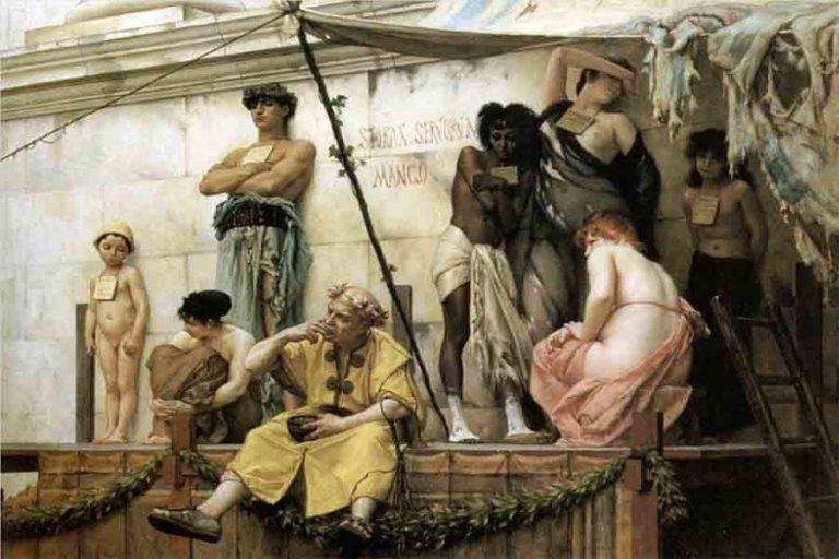 Cruzimea lui Publius Vedius Pollio, care-și arunca sclavii să fie devorați de anghile, l-a șocat pe împăratul Octavian