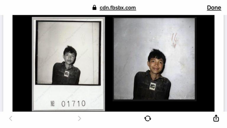Artistul care face bani din sângele vărsat de Khmerii Roșii